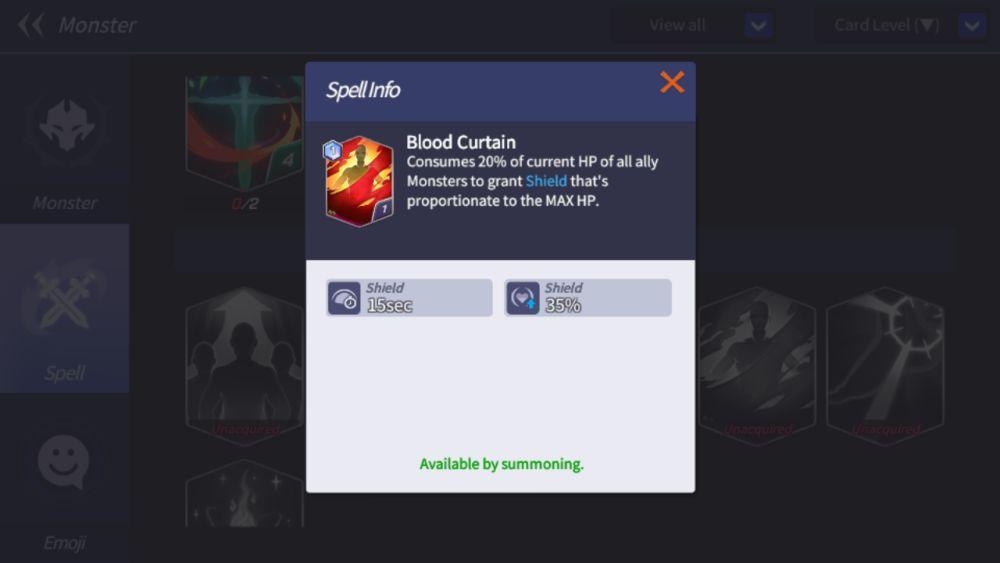 blood curtain summoners war