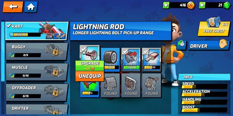 boom karts lightning rod