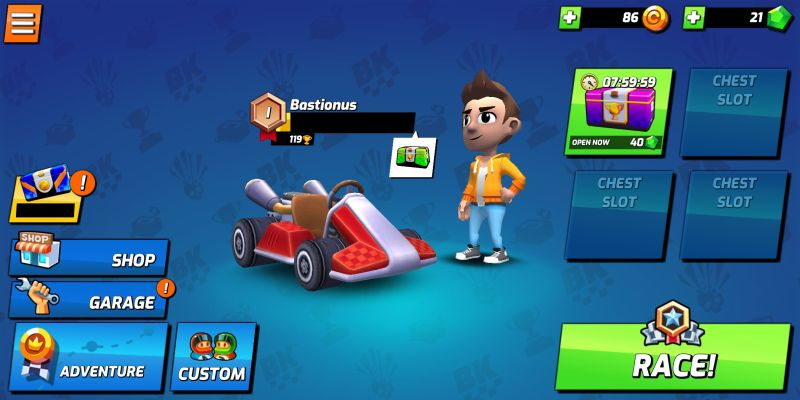 boom karts race mode chests