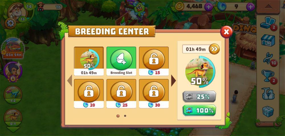 dinosaur park primeval zoo breeding progress