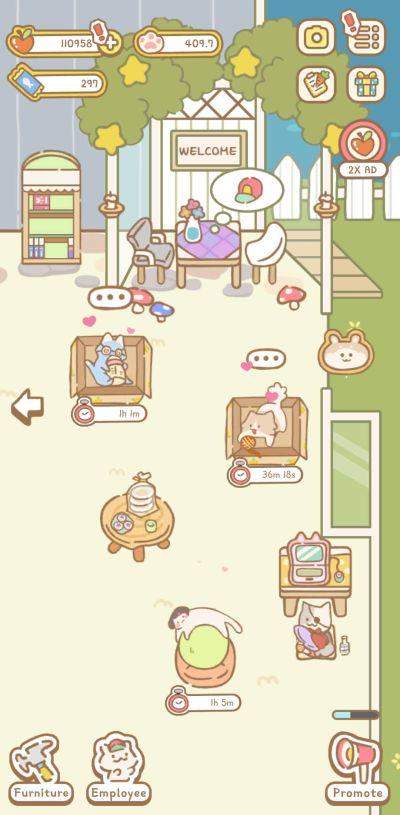 cat spa break room