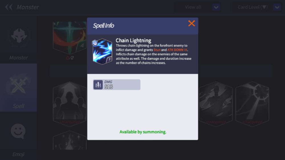 chain lightning summoners war