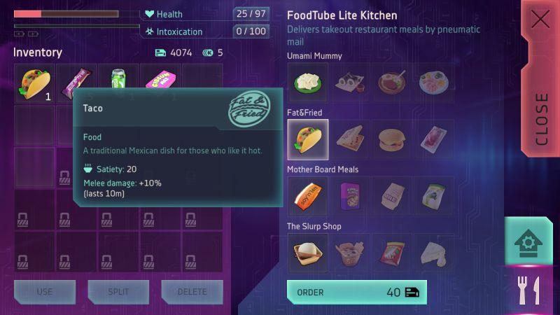 киберика еда