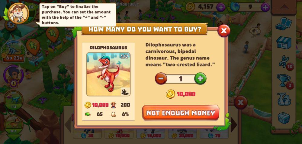 dinosaur park primeval zoo dilophosaurus