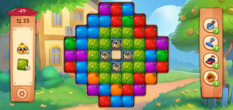 solving puzzles from the bottom in farmscapes