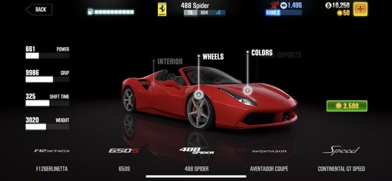 ferrari 488 spider csr racing 2