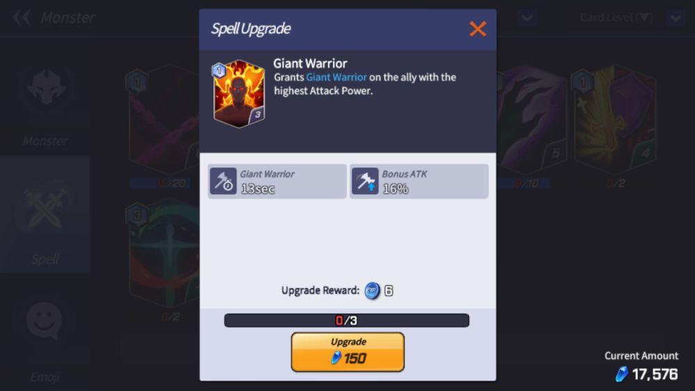 giant warrior summoners war