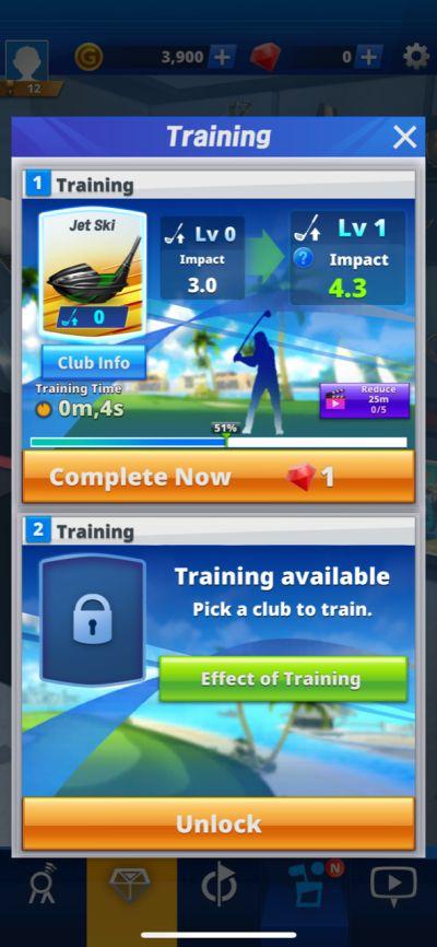golf impact training