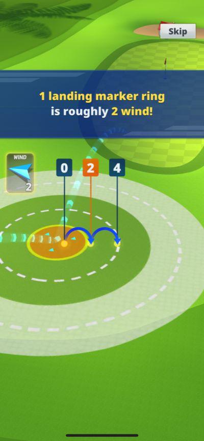 golf impact wind strength