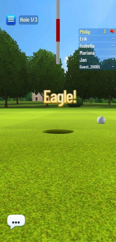 golf strike concept