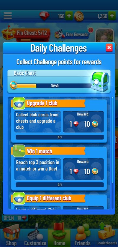 golf strike daily challenges