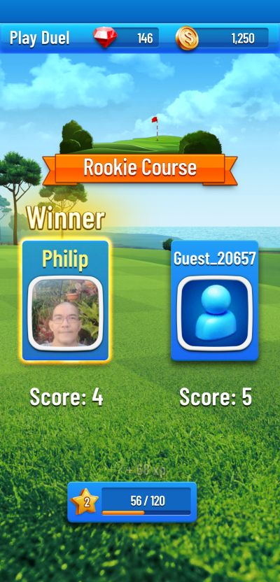 learning from opponents in golf strike