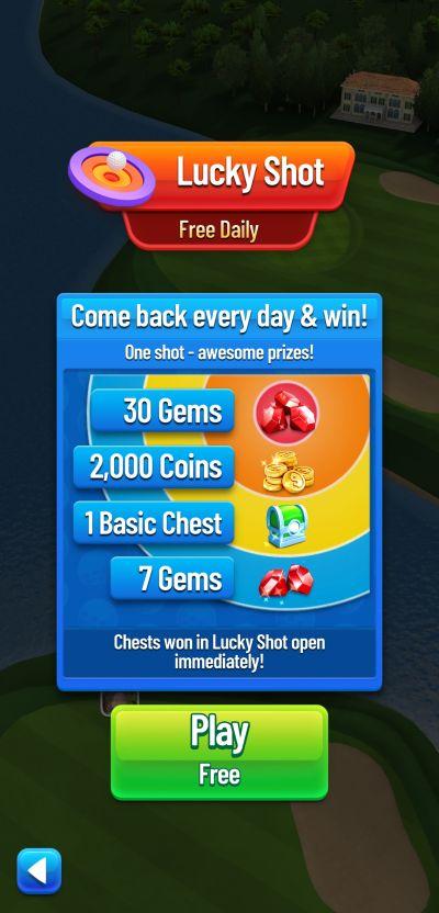 golf strike lucky shot