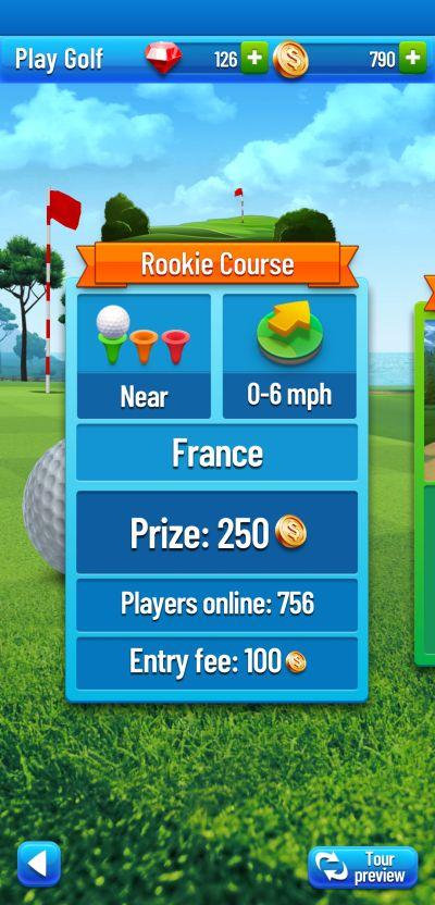 golf strike wind effect