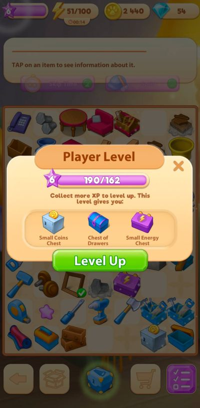 leveling up in merge villa