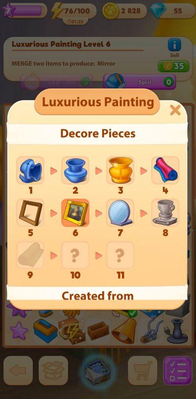 merge villa luxurious painting