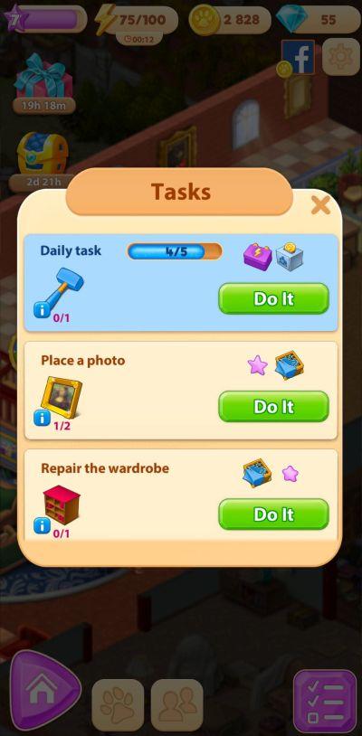 merge villa tasks
