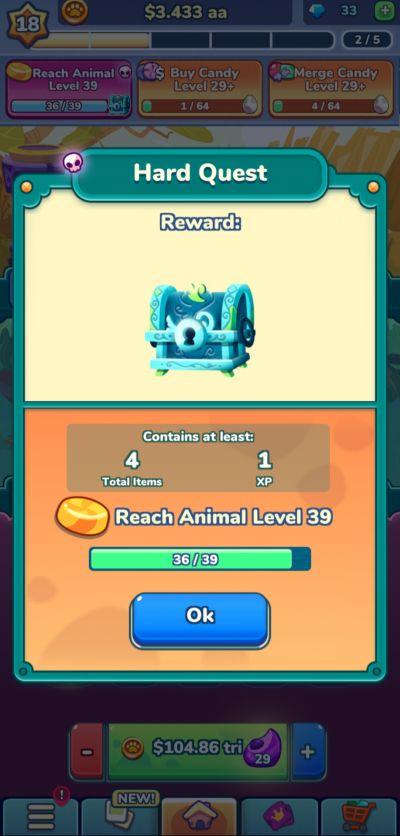 merge zoo hard quest