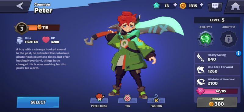 peter attributes smash legends
