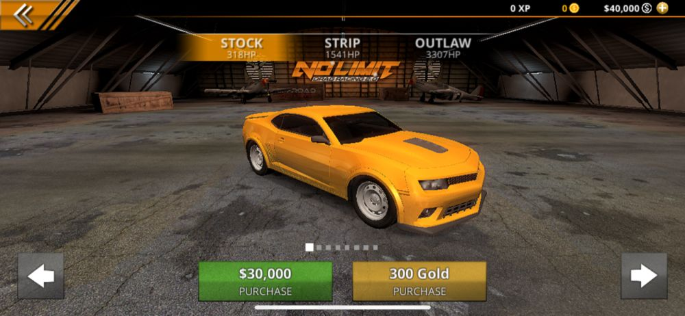 purchasing a car in no limit drag racing 2