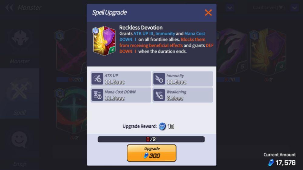 reckless devotion summoners war