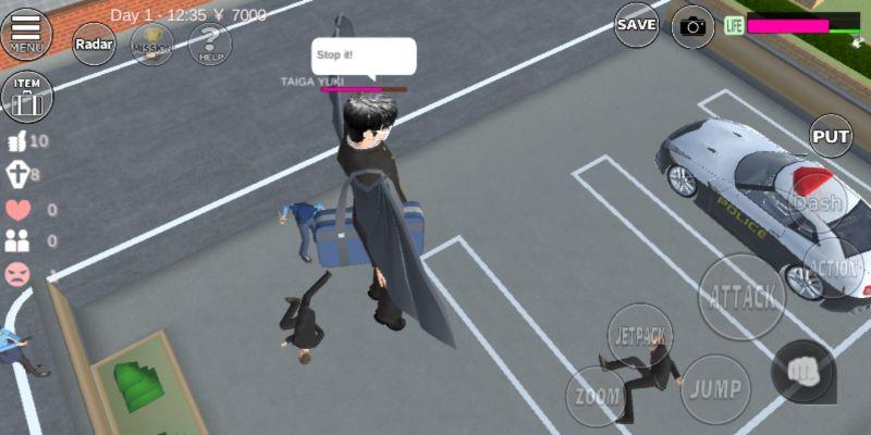 avoiding fights in sakura school simulator