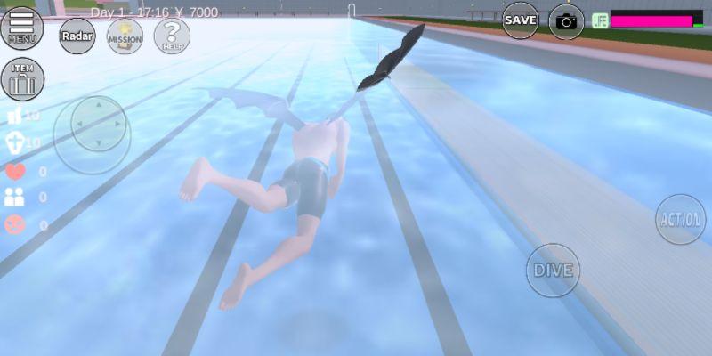 sakura school simulator pool