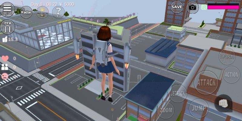 using jetpack in sakura school simulator
