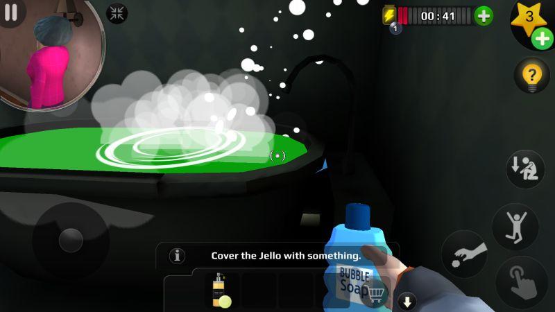 страшный учитель 3D ванна пузырь