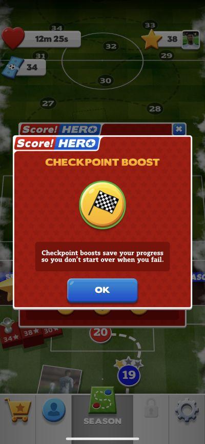 score! hero 2 checkpoint boost