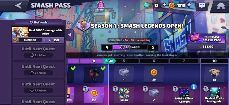 smash pass smash legends