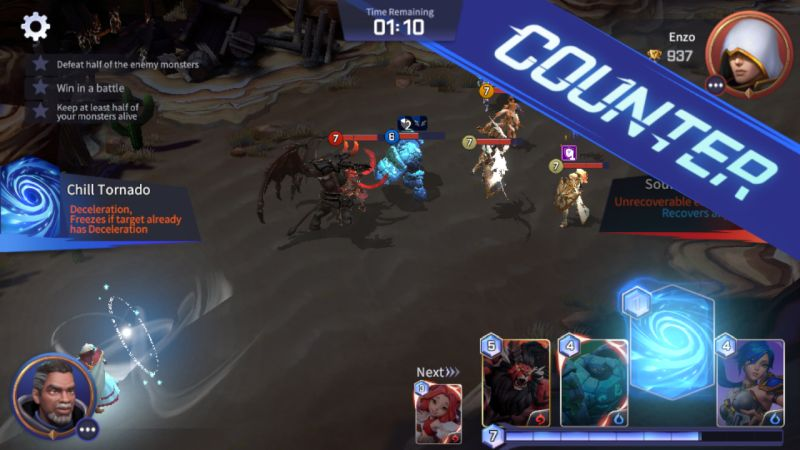 summoners war lost centuria counter attack