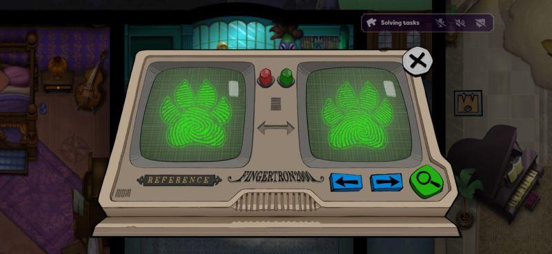 suspects mystery mansion fingerprint match task