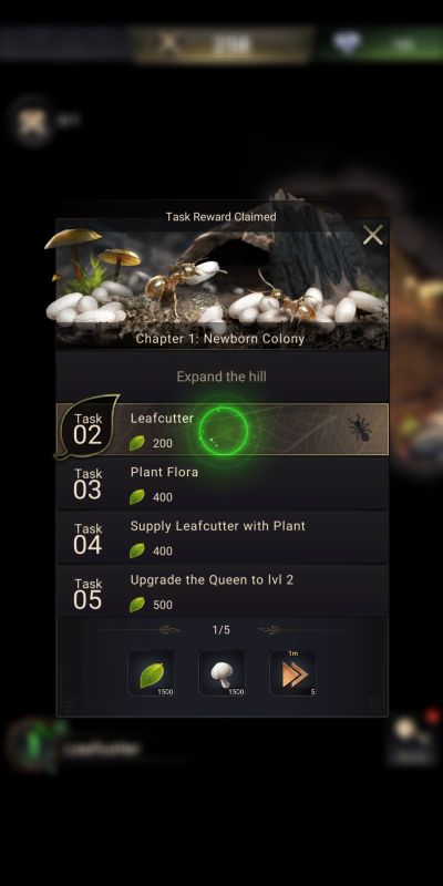 the ants underground kingdom chapter quests