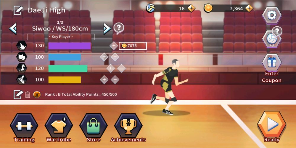 the spike volleyball story player upgrade