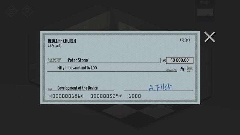 tiny room stories bank deposit check