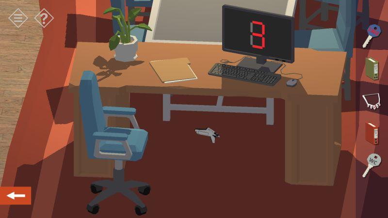 tiny room stories bank under desk