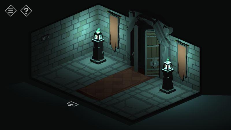 tiny room stories cave blue light