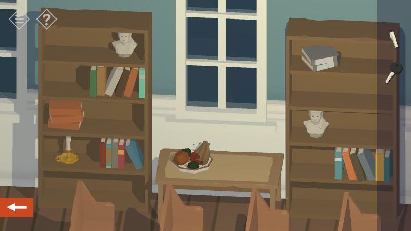 tiny room stories church book shelves