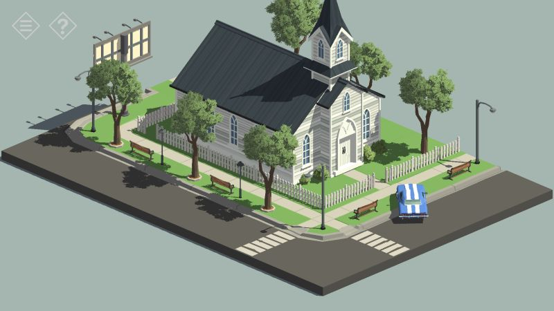tiny room stories church entrance
