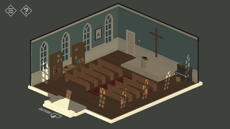 tiny room stories church in dark