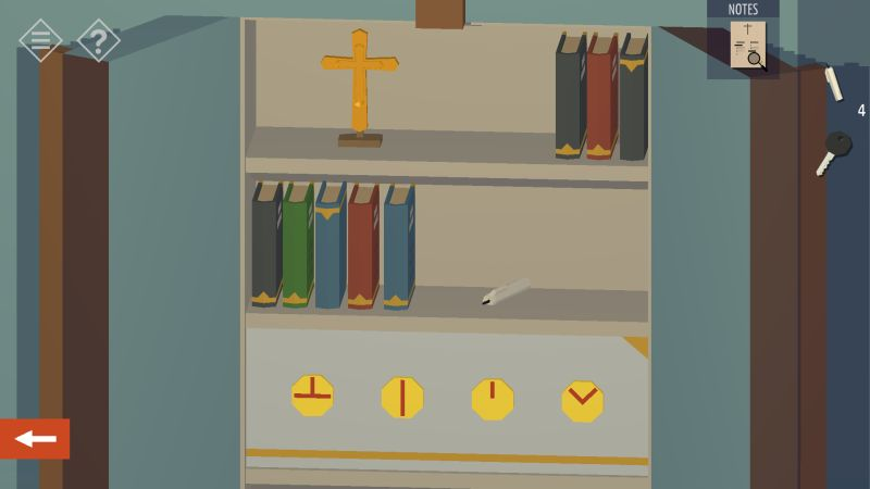tiny room stories church secret shelf