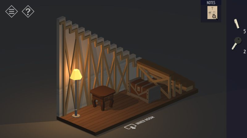 tiny room stories church stairs room