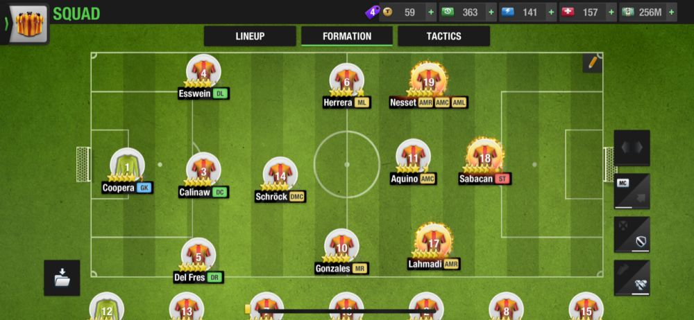 top eleven 2021 3-1-2-3-1 attacking formation