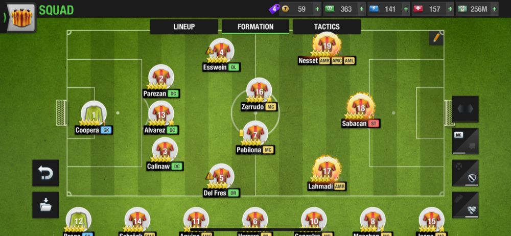 top eleven 2021 3-2-2-2-1 normal formation