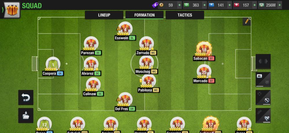 top eleven 2021 3-2-3-2 defensive formation