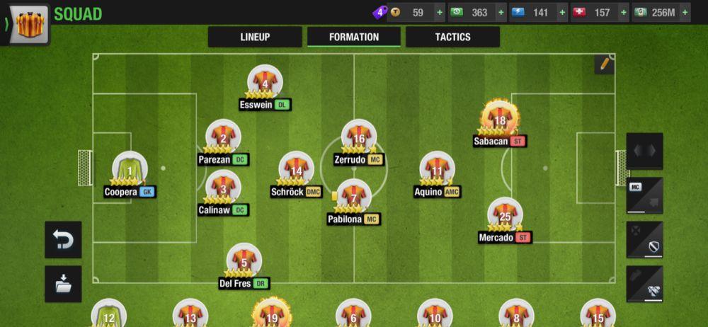 top eleven 2021 4-1-2-1-2 tiki taka formation