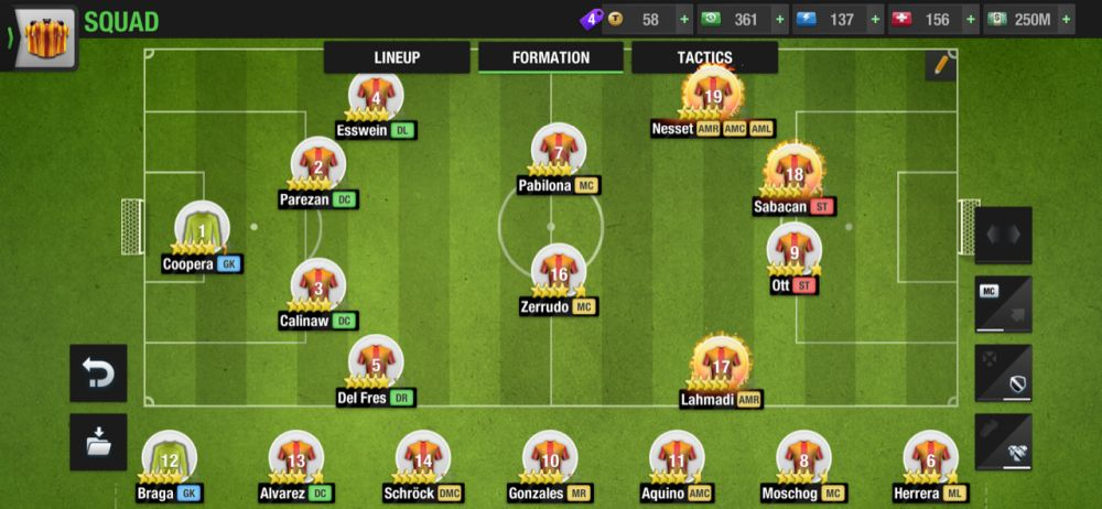 top eleven 2021 4-2-2-2 attacking formation
