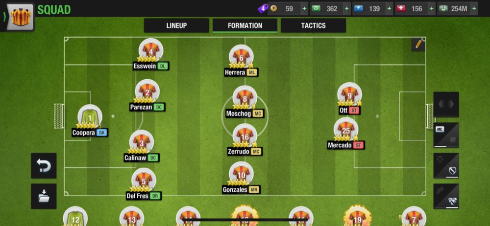 top eleven 2021 4-4-2 normal formation