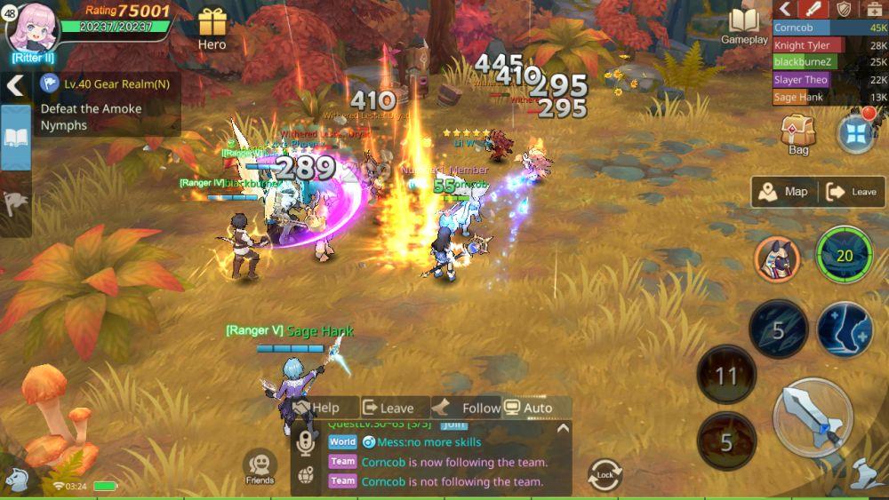 auto combat in guardians of cloudia